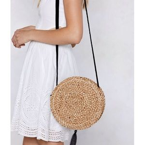 NASTY GAL - Straw Crossbody Bag